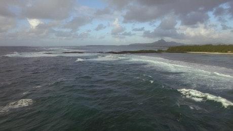 Storm heading towards an island