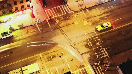 Street junction at night