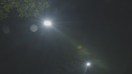 Street lamps at night