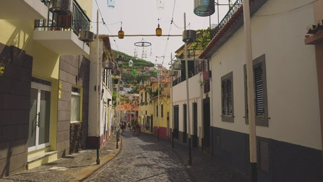 Street of a tourist town
