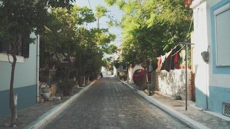Street of a town near the beach