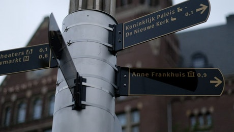 Street sign in Holland
