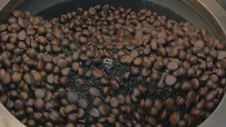 Street vendor roasting nuts