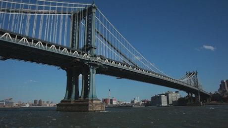 Strong current below the bridge