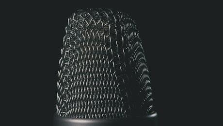Studio microphone rotating