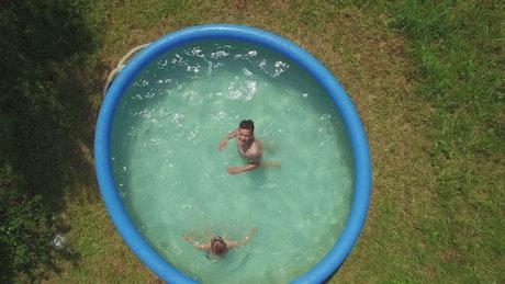 Summer pool in a garden