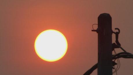 Sun moving slowly across the sky