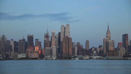 Sundown over New York