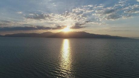 Sunlight reflecting across the sea