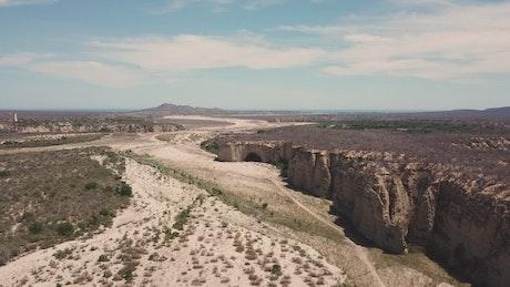Sunny desert plateau