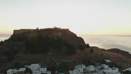 Sunrise over a small village