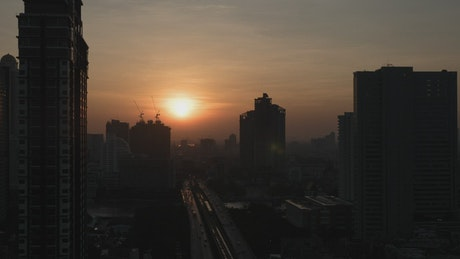 Sunrise over Thailand