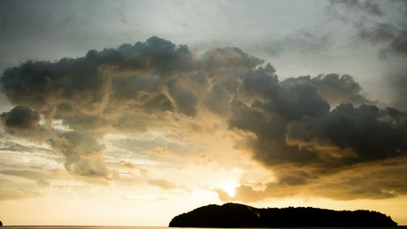 Sunset across Langkawi Island