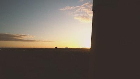 Sunset in a desert