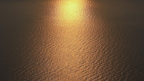 Sunset in the calm sea