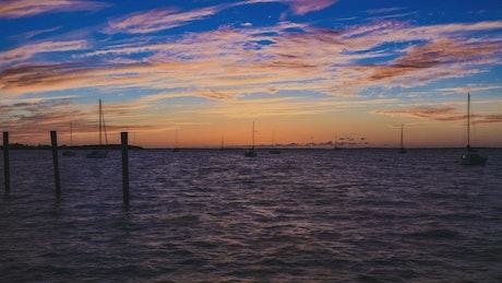 Sunset over the coast of Florida