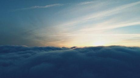 Sunset seen above cloud level