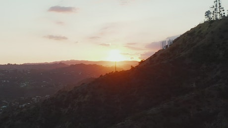 Sunset seen from the Hollywood Hills