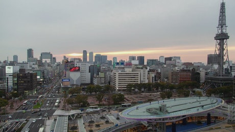 Sunset to night in Yokohama city