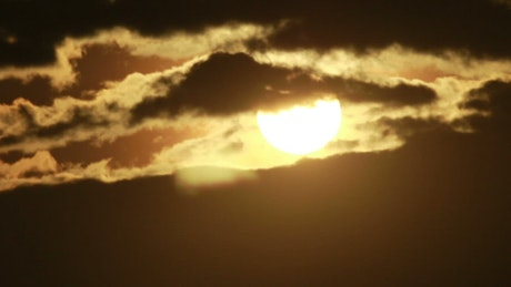 Sunshine appearing behind the clouds