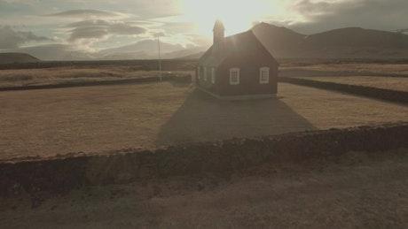 Sunshine over a Church
