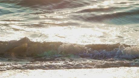 Sunshine reflecting on waves