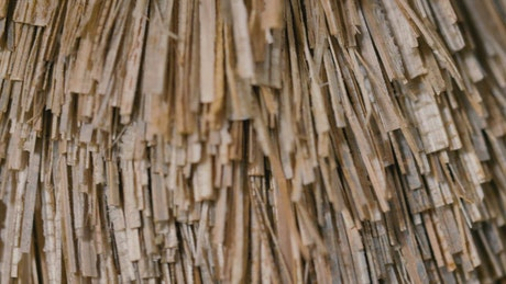 Superimposed layers of thin wooden strips