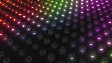 Surface covered with many illuminated buttons