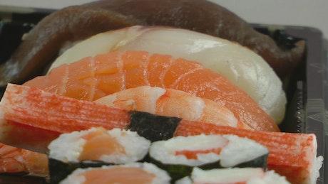 Sushi and fish