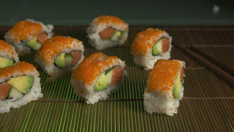 Sushi ready for serving