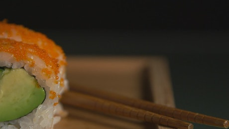 Sushi rolls with avaocado