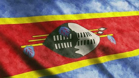 Swaziland waving 3D flag