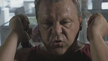 Sweating during a workout