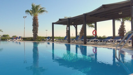 Swimming pool in the breeze