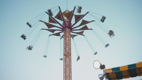 Swing tower ride