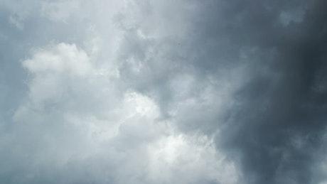 Swirling dark clouds