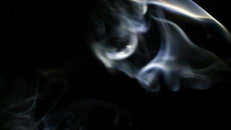 Swirling smoke lines