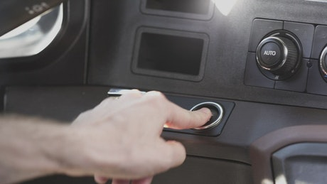 Switching on a car with a modern key