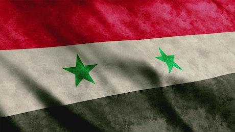 Syria flag, texture render