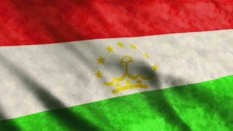 Tajikistan waving 3D render flag