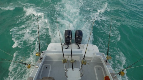 Taking a fishing trip out at sea