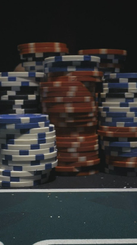 Taking down a tower of poker chips