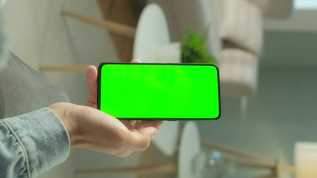 Tapping a smartphone screen