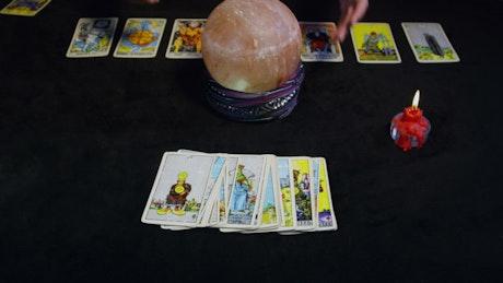 Tarot Cards being prepared