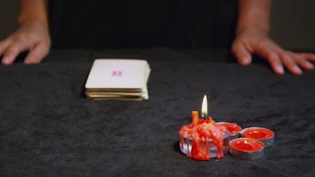 Tarot Cards being shuffled