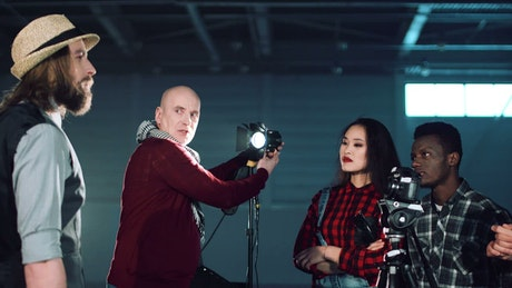 Teaching photography lighting to students