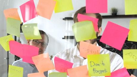 Team in brainstorming meeting