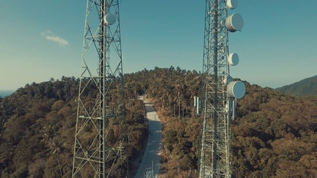 Telecommunication antennas in the mountains