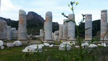 Temple of Artemis at Sardes Lydia in Turkey