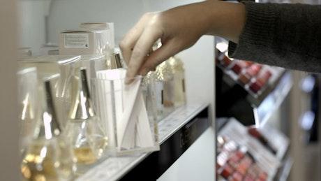 Testing perfumes